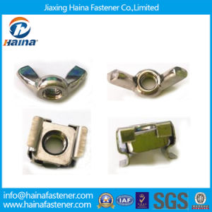 Staninless Steel Wing Nut, Square Lock Cage Nut (In Stock) pictures & photos