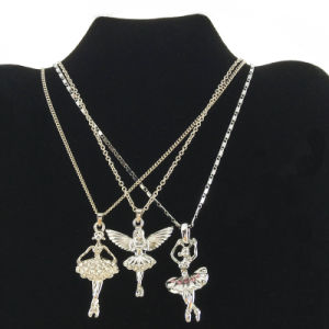 Wholesale Silver Girl Charms Pendants Necklace (FN16040810)