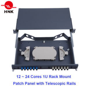 "24~48 Cores 19"" 1u/2u Fiber Optic Rack Mount Patch Panel ODF pictures & photos"