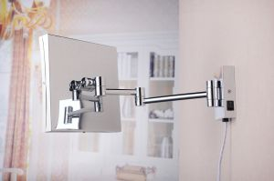 2015 New Square Folding Ajustable Wall LED Bathroom Mirror pictures & photos