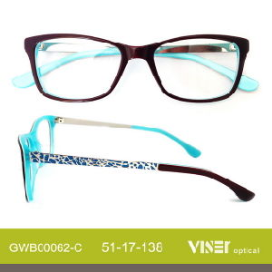 Acetate Eye Glasses Eyeglass Frames (62-A) pictures & photos