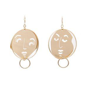 cf5589b0b771b Women Fashion Accessories Laser Cut Thin Metal Jewelry Face Earrings