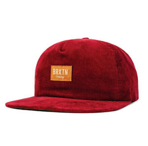 High Quality OEM Customized Red Corduroy 5 Panels Sports Snapack Hat Cap pictures & photos