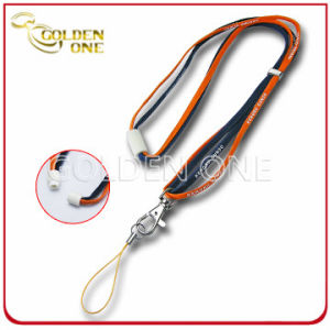 Custom Printed Nylon Tube Lanyard with Plastic Breakaway Buckle pictures & photos
