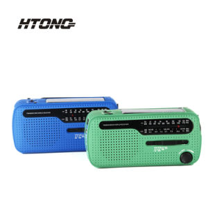 Field Survival Hand Crank Am/FM Solar Dynamo Emergency Portable Mini Radio with LED Flashlight pictures & photos