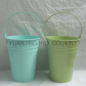 Powder Coating Metal Buckets with Handle for Gift