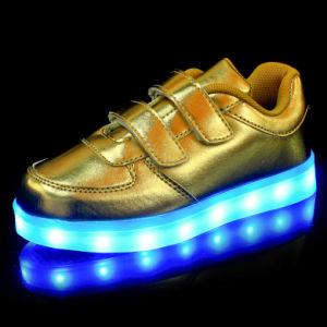 China Light up Shoes Kids Gold Straps - China LED Flashing Lights ... 14d73bbcc