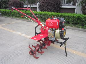 Forced Air Cooling Gearbox Diesel Power Tiller Harvester with Electric Start pictures & photos