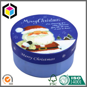 Fancy Round Shape Christmas Paper Gift Box Cardboard with Lid