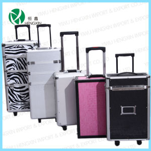 Professional Aluminum Trolley Cosmetic Makeup Case Products pictures & photos