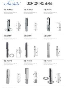 Floor Hinge Floor Spring Glass Door Closer Td-210A pictures & photos