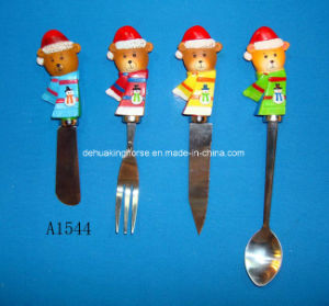 Spreader with Resin Bear Handle for Christmas Decoration pictures & photos
