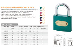 Costomize Color Sprayed Painted Padlock 7 Color Can Be Choose pictures & photos