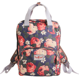Leisure Floral Waterproof Canvas School Backpack (99190)