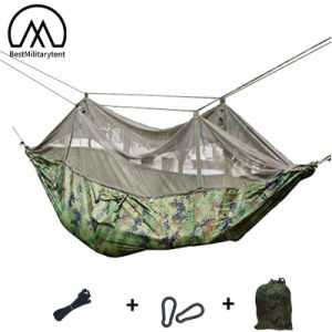 Camping Outdoor Hammock Mosquito Net Tent Military Sleeping Swing Hanging Army