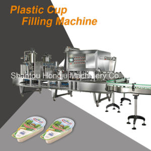 Full Automatic Cup Filling Sealing Machine for Yogurt