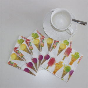 Ice Cream Design Paper Napkin for Summer pictures & photos