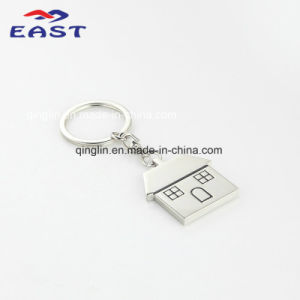 Special House Shape Design Zinc Alloy Metal Keychain