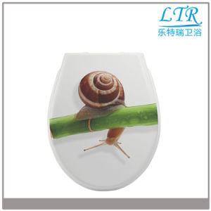 Soft Close Urea Beautiful Decorative Toilet Lid Cover
