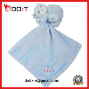 Super Soft Plush Blue Blanket Baby Educational Comfort Towel Toy