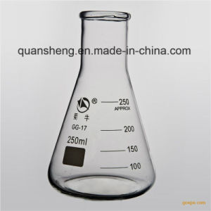 High Borosilicate Glass Conical Flask for Lab Use