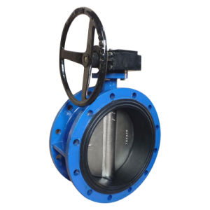 Concentric Flanged Vulcanized Butterfly Valve with Gear Operator pictures & photos