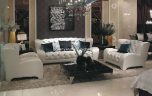 Divany Leather Sofa Modern Style White Leather Sofa (LS-117A+B+C) pictures & photos