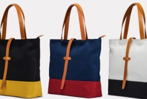 Offering Top Sell Canvas with Cow Leather Tote Bag (H892)