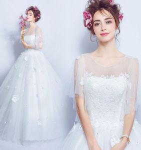 Sweetheart Neckline Wedding Dress.2016 Charming Flower Decoration See Through Floor Length Ball Gown Sweetheart Neckline Wedding Dress Bridal Dress
