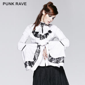 Royal Lolita Style White Ladies Office Wear Blouse Shirt (Y-213/WH)