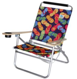 Folding Beach Chairs With Cup Holder (CYC066)