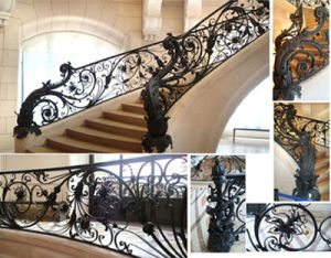 China Wrought Iron Stairs/Wrought Iron Handrails (HT-S001) - China Wrought  Iron Stairs, Hand Forged Wrought Iron Staircase