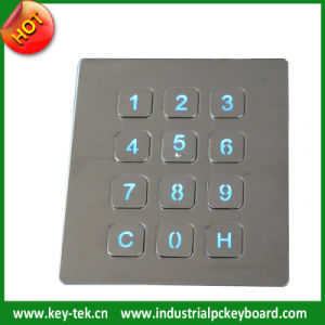 CE, FCC Certificated Numeric Keypad with Backlight (K-TEK-B88KP-BL)