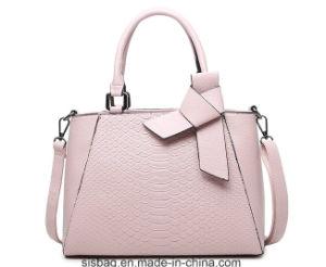 88987c5c7a China New Fashion Pink Color Handbag Snake Pattern PU Lady Bag ...