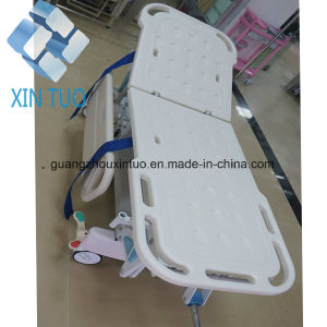 Hospital Stainless Steel Patient Transport Emergency Stretcher Trolley pictures & photos