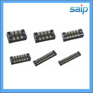 600V 25A 4 Pole Tb Connector Screw Terminal Block with Cover (TB-2504)