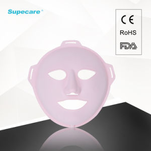 Rechargeable 3D Massage LED IPL Facial Mask for Anti-Aging Wrinkle Removal and Skin Rejuvenation with USB Adapter