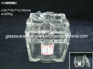 Crystal Glass Candy Jar/Glass Jar with Butterfly Design (J-HG11) pictures & photos