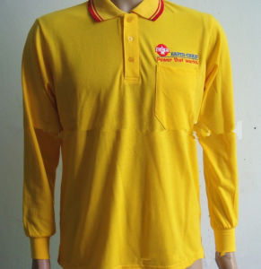 100% Polyester Moisture Wicking Working Polo Shirt Uniform Factory pictures & photos