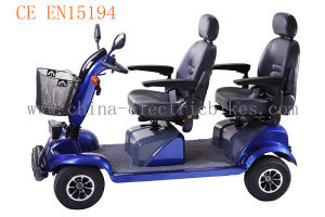 Double Seat Electric Mobility Scooter for Adults (LN-003) pictures & photos