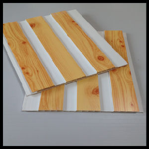 Hot-Stamping Wooden Color PVC Panel for Wall and Ceiling (HN-2509) pictures & photos