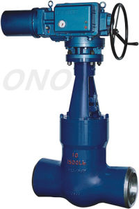 High Temperature High Pressure Motorized Gate Valve Thread pictures & photos