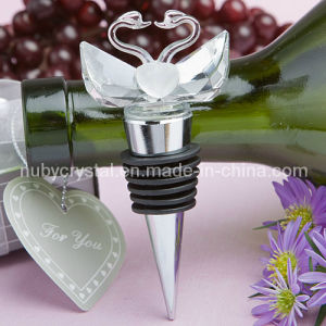 Wedding Favors Crystal Swan Stopper for Wedding Layout pictures & photos