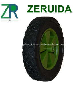 6X1.5 Inch Semi Solid Rubber Wheel with Diamond Tread (SSW-B3003) pictures & photos