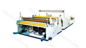 1575 Non Stop Toilet Paper Roll Rewinder Machine Embossing Rewinder pictures & photos