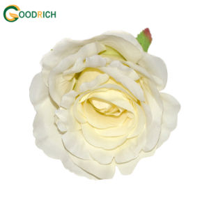 White High Quality Rose Artificial Flower Head