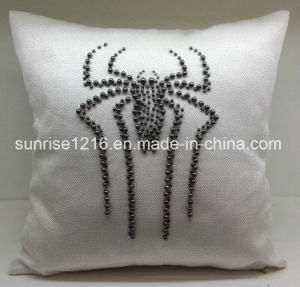 Decorative Cushion Sr-C170220-12 High Fashion Pearled Spider Cushion