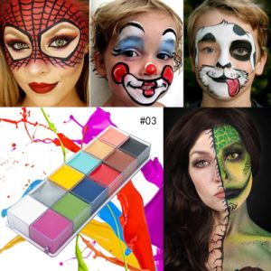 Best Sale Flash Tattoo Face And Body Paint Palette Make Up Oil Painting Art Halloween Party Fancy Waterproof Beauty Makeup