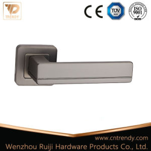 Best Selling Popular Matte Satin Black Door Handle on Square Rose (Z6327-ZR23)