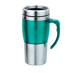 Stainless Steel Travel/Auto Mug With Hand